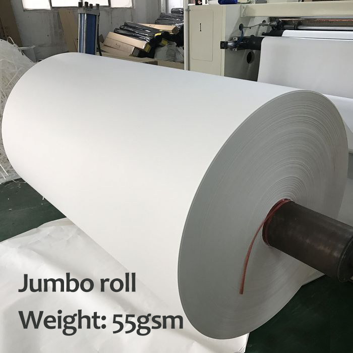 Dye sublimation transfer paper jumbo roll for MS/EFI printer