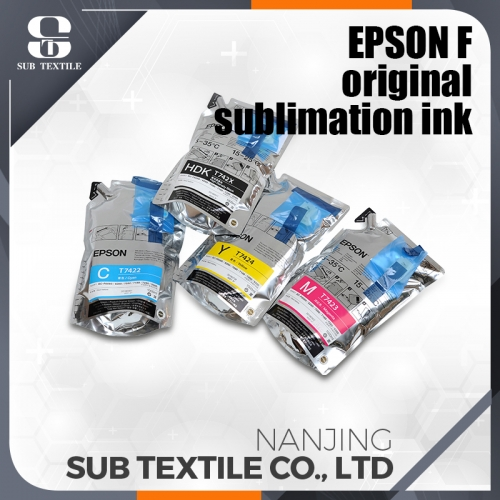 Epson compatible sublimation ink Yellow color with chips for sale