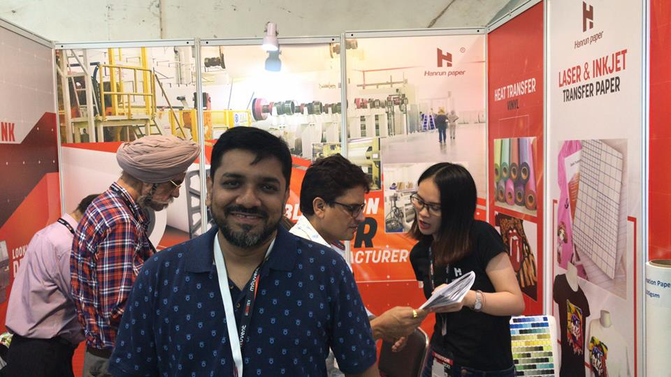 2018 Indian Gratex expo , great event, many visitors stand at our booth Subtextile !