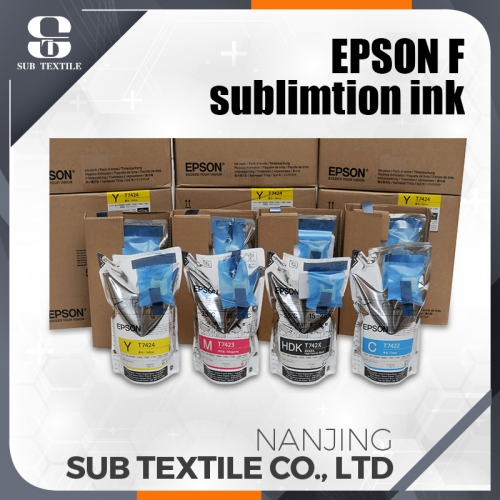 original Epson sublimation ink red color, with chips